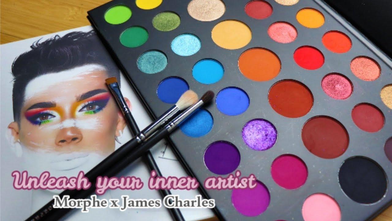 Morphe X James Charles Eyeshadow Palette تجربة Youtube