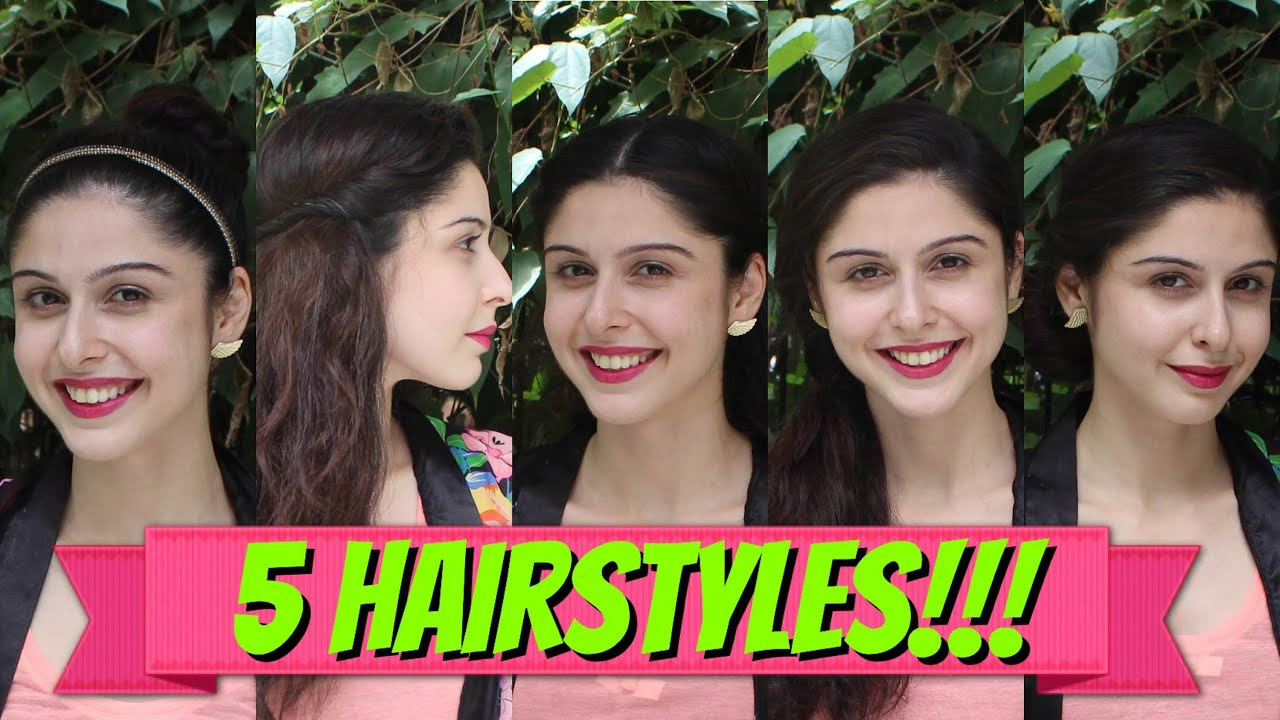 5 Easy Hairstyles in 2 Minutes
