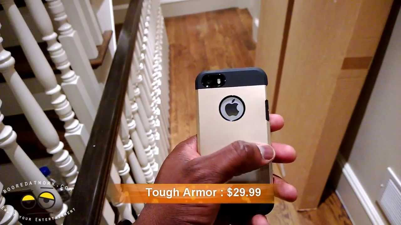 spigen iphone 5s tough armor saturn case review youtube. Black Bedroom Furniture Sets. Home Design Ideas
