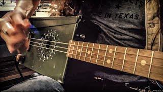 """Gimme Back My Bullets"" on AMMO BOX GUITAR! - Lynyrd Skynyrd Fingerpicking Cover"