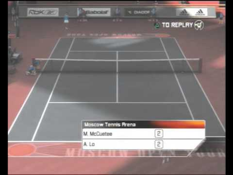 Top Spin 3 - Moscow quarter finals - M. McCuetee vs A. Lo