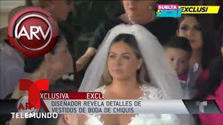 El vestido de novia de Chiquis, su diseñador revela el secreto | Al Rojo Vivo | Telemundo