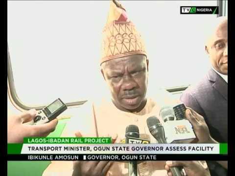 Lagos-Ibadan rail project : Amaechi, Amosun assess facility