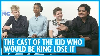 The Cast Of The Kid Who Would Be King Can't Keep It Together!