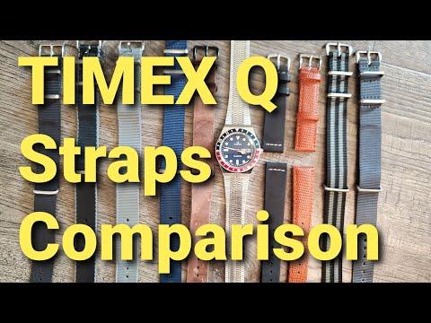 Timex Q Quartz Watch Reissue On Straps Comparison Review Nato Leather Seatbelt