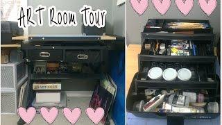 Art Desk Tour: My Supplies & Organization