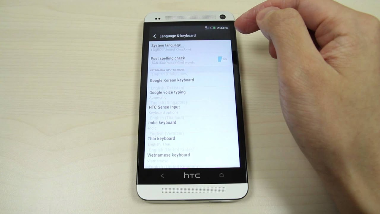 How to change the language on HTC One 801e M7