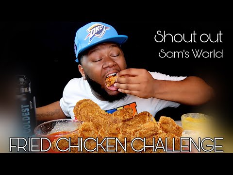FRIED CHICKEN 10 WHOLE WING CHALLENGE | SAM'S WORLD