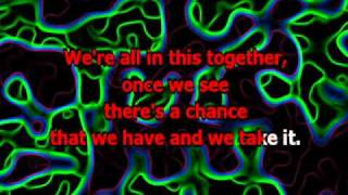 We are all in this together (with lyrics Karaoke) - High School Musical