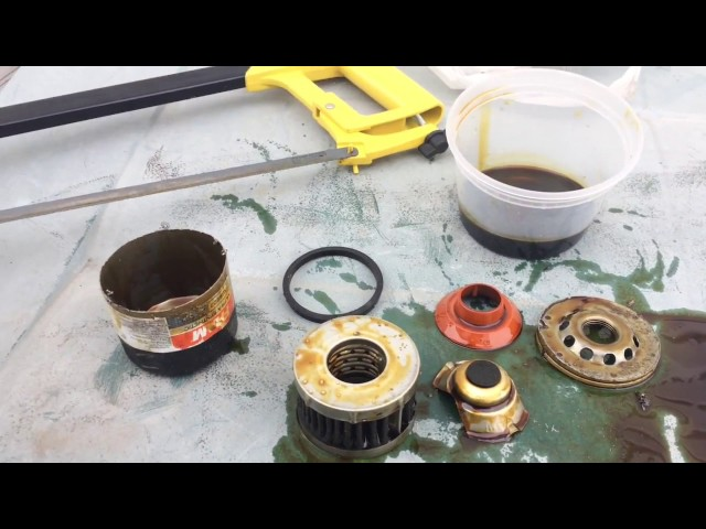 Fram Ultra Synthetic oil filter- disassembly after 7000 MILES