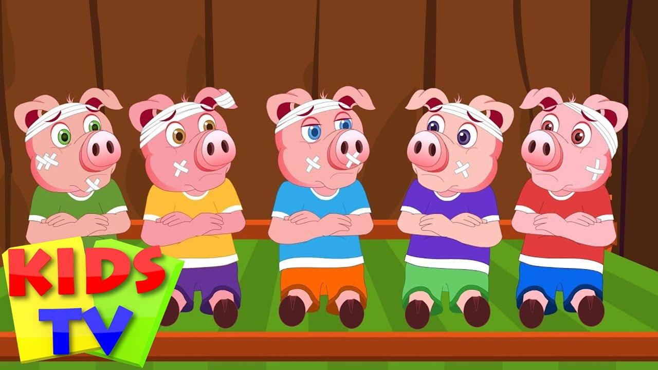 five little piggys | 5 little piggies | kids tv nursery rhymes | baby and children songs