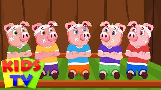 five little piggys | 5 little piggies | kids tv nursery rhymes | baby and children songs