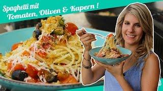 Schnelle Sommerpasta   Spaghetti mit frischer Tomatensauce   Felicitas Then   Pimp Your Food