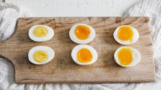 How to Make Perḟect Boiled Eggs » Soft Boiled, Medium Boiled, and Hard Boiled Eggs