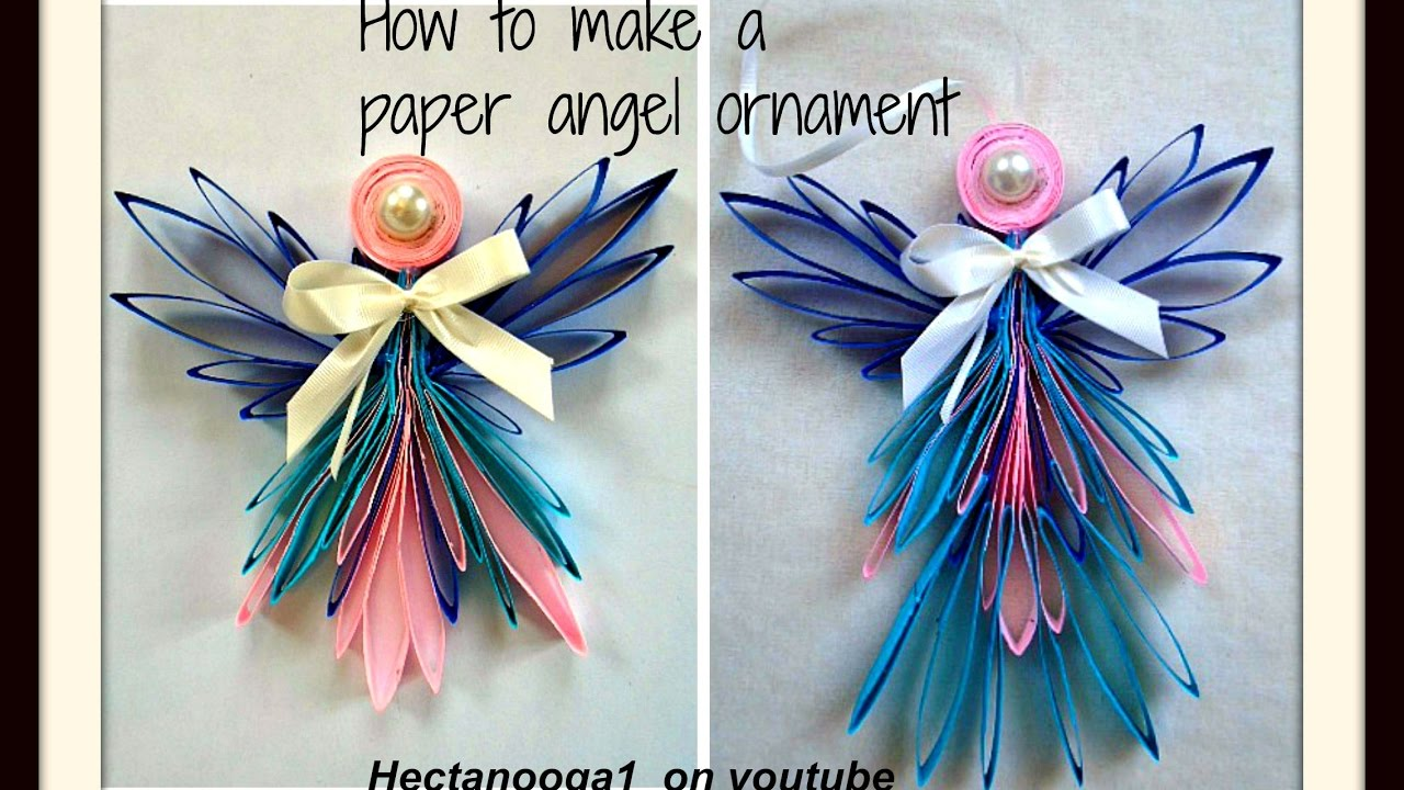 Diy Folded Paper Angel Ornament Christmas Ornament Tree Ornament