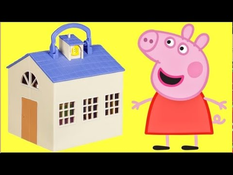 Nat And Essie Playfully Unbox Peppa Pig's School Classroom Set