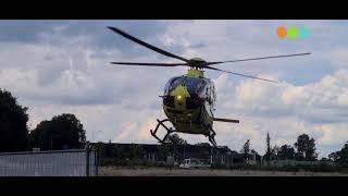 traumaheli lifeliner1 vertrekt vanuit nunspeet na hulpverlening movie