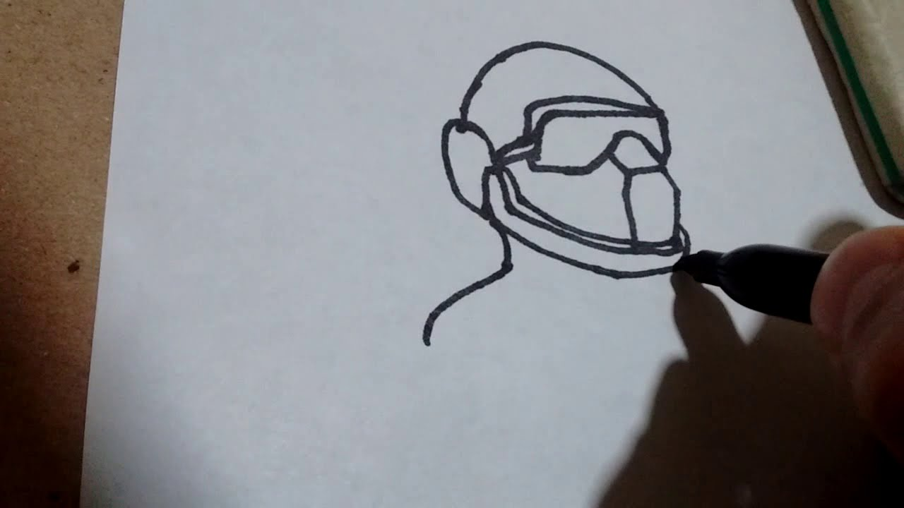 Cómo dibujar un soldado Teletubbie de los slendytubbies/how to draw soldier from slendytubbies #1
