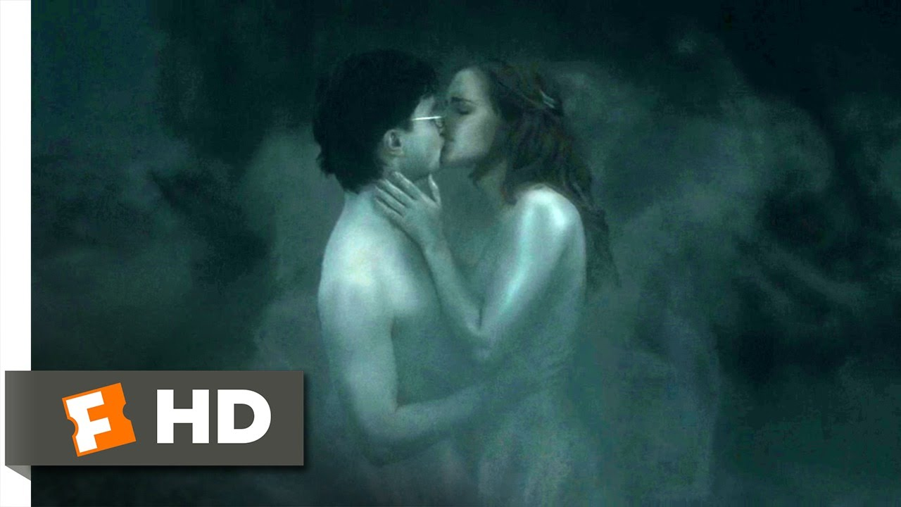 hermione and ron kissing naked