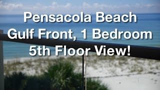 Pensacola Beach 1 Bedroom Gulf Front Vacation Rental.
