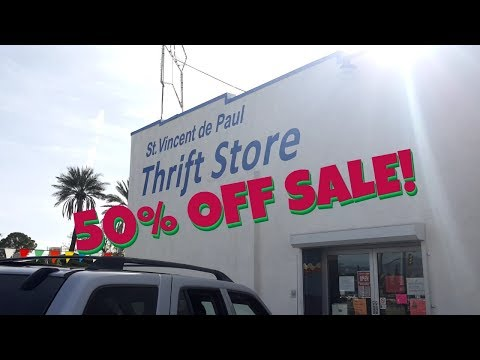 50% Off Sale Thrift Store Clothing Haul Video - Men's & Women's Name Brand Fashion