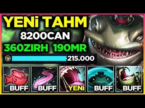 215.000 HASAR TANKLADIM!! YENİ TAHM KENCH TAHM BİR 5v1 CANAVARI!!