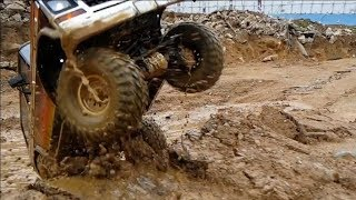 RC카 진흙Traxxas TRX4 Dirty Ford Bronco In The Mud Trail