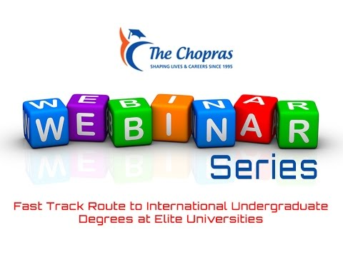 The Chopras - Interactive Webinar on Pathway Programmes to Study Abroad