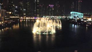 The Dubai Fountain - 21 March 2016. Performance: Celine Dion & Andrea Bocelli - The Prayer