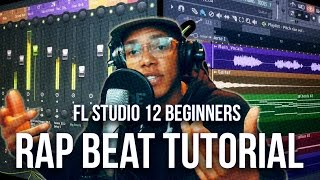 Download FL STUDIO 12 BEGINNER HIP HOP BEAT TUTORIAL 2017 | Old School Rap Beat MP3 song and Music Video