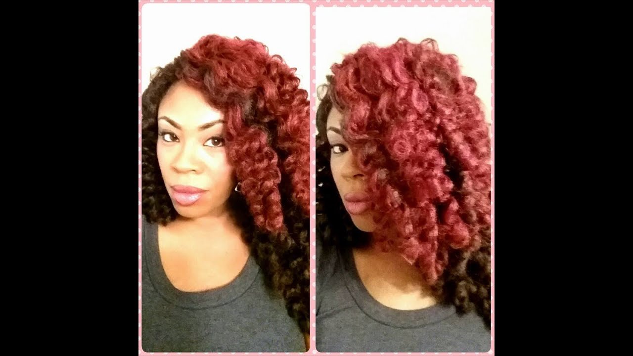 Crochet Red Hairstyles : Crochet Wig Marley Hair Red - YouTube