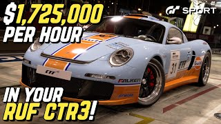 EARN $1,725,000 *per hour* with your RUF CTR3!!