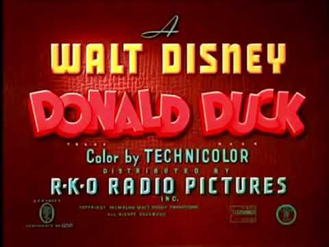 Donald Duck : Three For Breakfast  Original Recreation Titles
