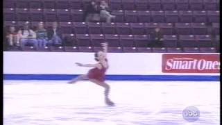 Quadruple Salchow by Sasha Cohen (USA) - 2001 Skate America, Ladies' Free Skate