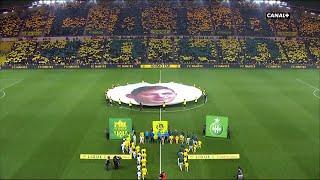Ligue 1 Conforama - 22ème journée - Nantes / Saint-Etienne : L'entrée émouvante des joueurs