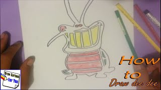 How to draw oggy dee dee