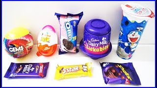 Kinder Joy Egg Cadbury Dairy Milk Lickables Oreo Biscuit Gems And Other Chocolates With Surprise Toy thumbnail