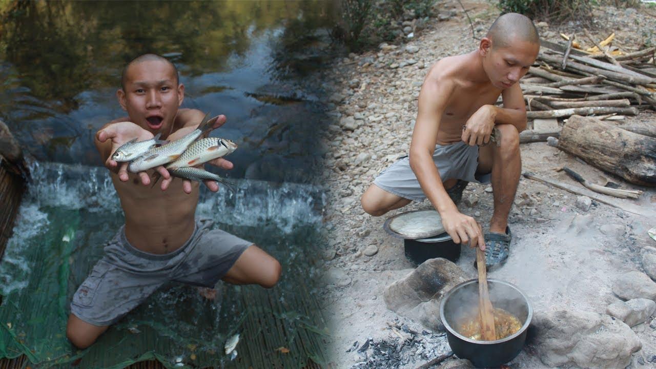 วิธี ล่าสัตว์หาดักปลา เอาชีวิตรอด 1 วัน ป่าลึก!!!
