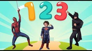 Les Nombres De 1 à 10 Avec Spiderman Baby Superman & Batman FR