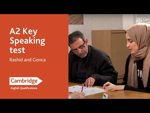 A2 Key speaking test (from 2020) - Rashid and Gonca