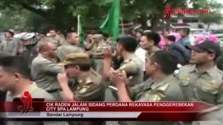 Sidang Perdana Cik Raden Tentang Rekayasa Penggerebekan City Spa Lampung
