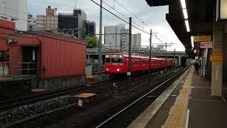 名鉄6000系9次車6045F+6800系6809F普通東岡崎行金山4番線到着