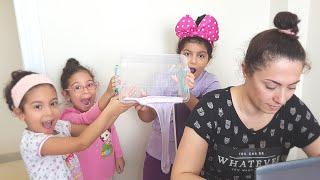 Annemize Slime Şakası Yaptık-Eğlence Tv-Slime Prank On My Mom