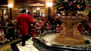 Duckmaster..aka Geoff Leach at the Peabody Hotel in Memphis