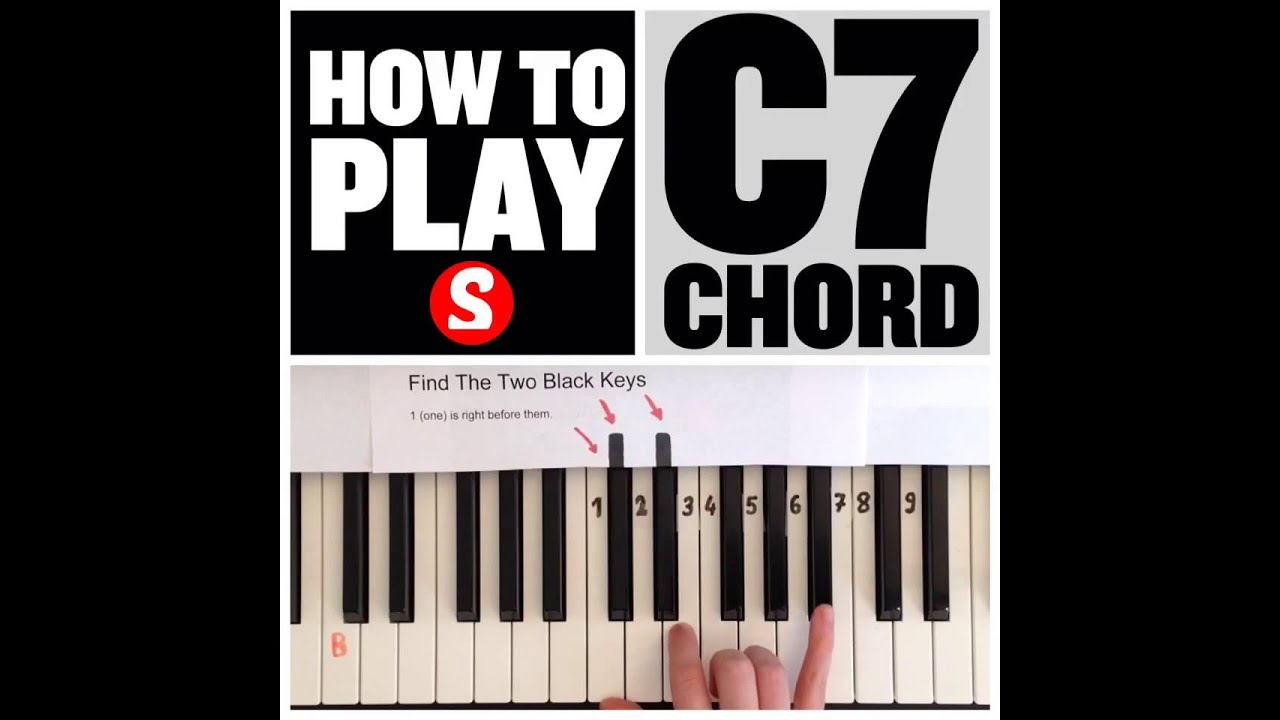 How to play a c7 chord on the piano 15 sec tutorial youtube how to play a c7 chord on the piano 15 sec tutorial hexwebz Choice Image