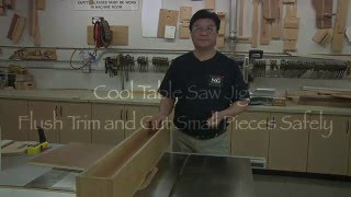 Multi Function Table Saw Jig: Flush trim and Cut small pieces Safely