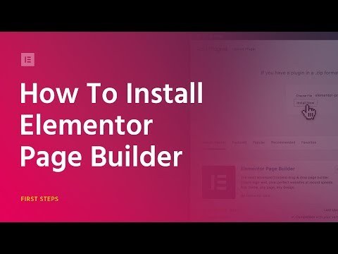 How to Install Elementor 2018