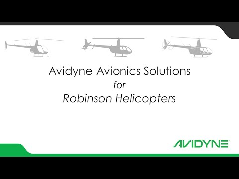 Avidyne Avionics Solutions for Robinson Helicopter