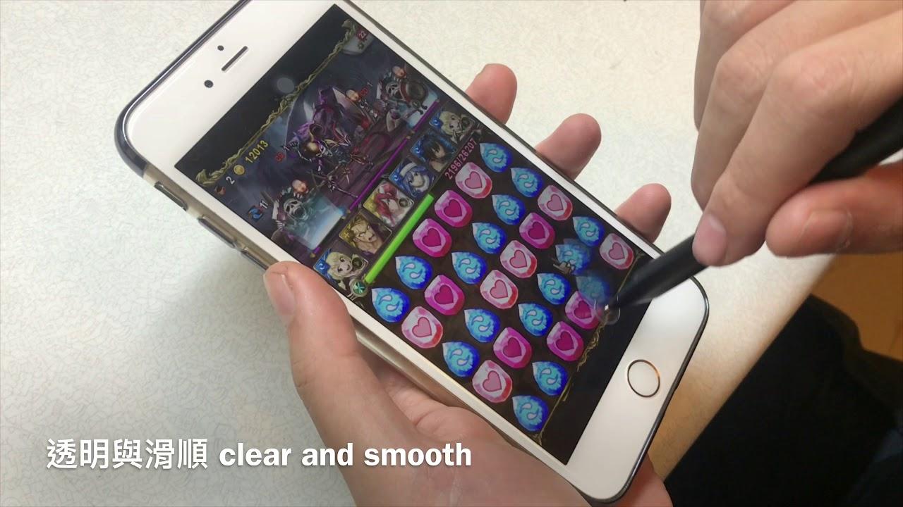 電容式觸控筆 DAGi P305 Precision Stylus Pen writing / playing games on Apple iPhone