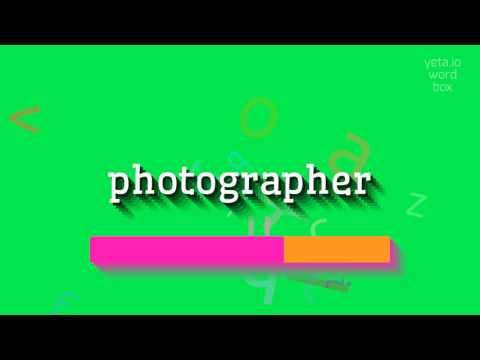 "How to say ""photographer""! (High Quality Voices)"